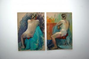 """Aus der Sammlung Fernand Luickx """"Nude"""" (jeweils 70 x 100 Gouache auf Karton)"""