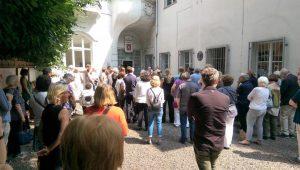 """Kunst-Event im Galeriehof """"Marcus Vitruvius Pollio"""" im ältesten Teil der Ruhranlage der Stadt Mülheim Foto: Gadr"""