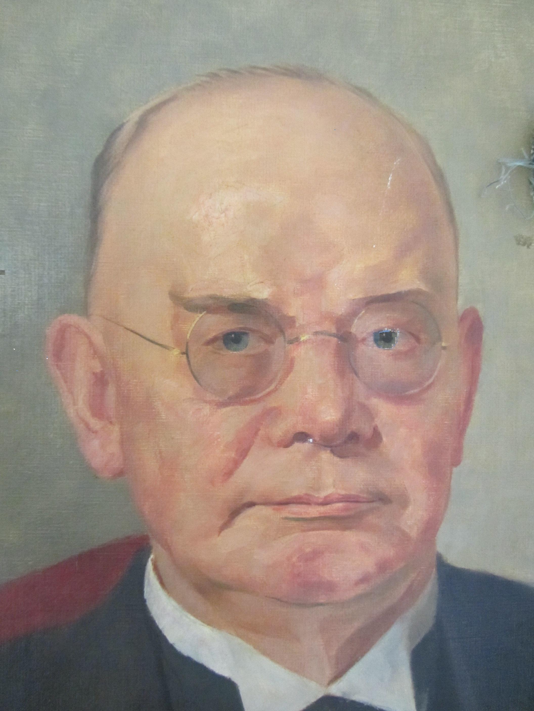 Karl Schmitz-Scholl (ältester Sohn der Familie hat die ersten Tengelmann-Filialen ins Leben gerufen. Das Portrait von 1823 (hier ein Ausschnitt) ist in der Kunstsammlung der Galerie an der Ruhr zu sehen