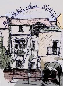 Rueckseite_historisches_Nedelmannhaus_Muelheim-Ruhr_Zeichnung_von_Dierck_Litke