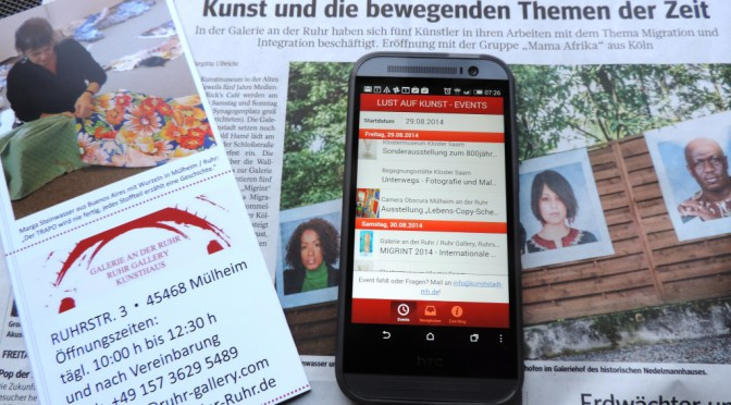 Mit dem Kultur – Kompass durch die Kunststadt Mülheim: neue KUNST-APP bringt Übersichtlichkeit – kostenlos