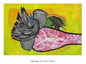 Werk aus 2016 von Alejandro Scasso aus Buenos Aires in der Galerie an der Ruhr, Mülheim, ALemania