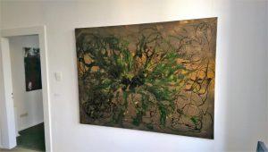 """Ergänzung der Ausstellung am 18. März 2017 um eine brandneue Arbeit von Manfred Dahmen zur Werkreihe """"ZEUS"""" zu sehen bis Ende April 2017 in der Belle Etage der RUHR GALLERY"""