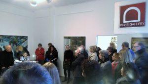 """Einführung in die Ausstellung """"oxymoron"""" Claudia Wissel durch Dr. Stefanie Lucci (Ausstellung bis 29.3.18 Sa. 14-18h, So. 11-17h)"""