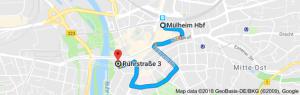 Vom HBF besser zu Fuß, die Innenstadt wird vom Taxi umfahren.