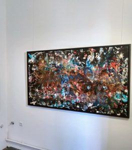 """Großformatige Malerei von Hans Arts in der Ausstellung """"Jackson Pollock Visiting"""" in der Ruhr Gallery - KuMuMü Mülheim an der Ruhr"""