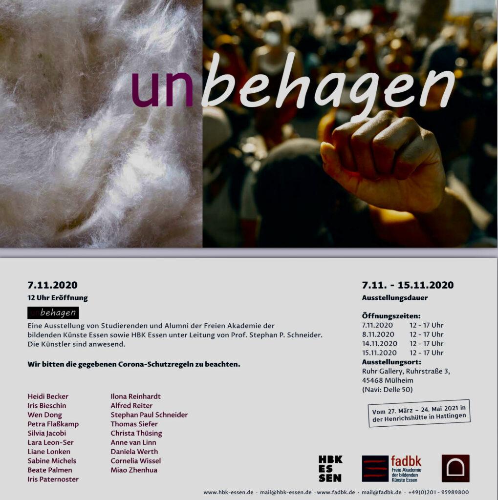 Dieses Bild hat ein leeres Alt-Attribut. Der Dateiname ist UNBEHAGEN-Kunstausstellung_RuhrGallery_Muelheim_HBK-Essen_fadbk-Essen_7.bis15.11.2020_Ruhrstr.3-1019x1024.jpg